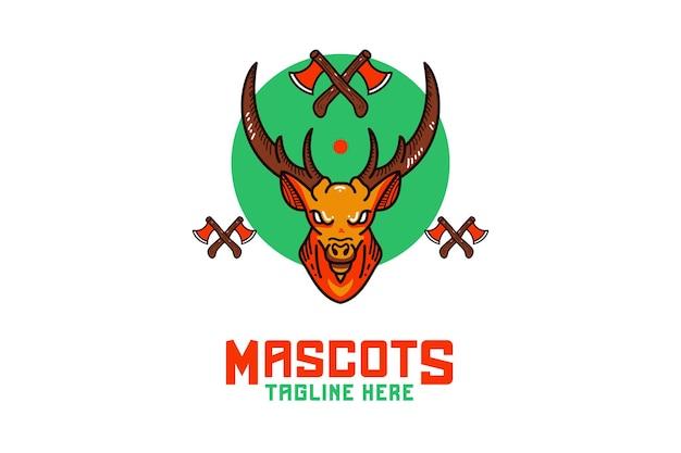 Herten mascotte logo