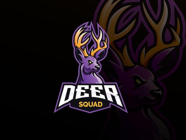 Herten mascotte sport logo
