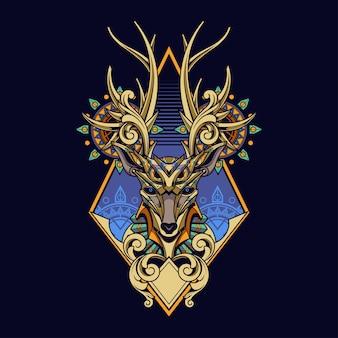 Herten ornament illustratie