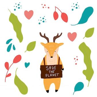 Herten redden de planeet