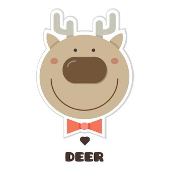 Herten. sticker. vector illustratie.