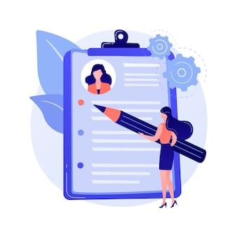 Hervat het schrijven van abstract dienstverleningsconcept