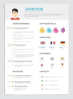 Hervat met infographics