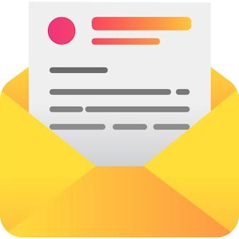 Hervatten pictogram vector cv-sjabloon geïsoleerd op een witte achtergrond. curriculumontwerp in brievenomslag. voorbeeld van professionele zakelijke vitae