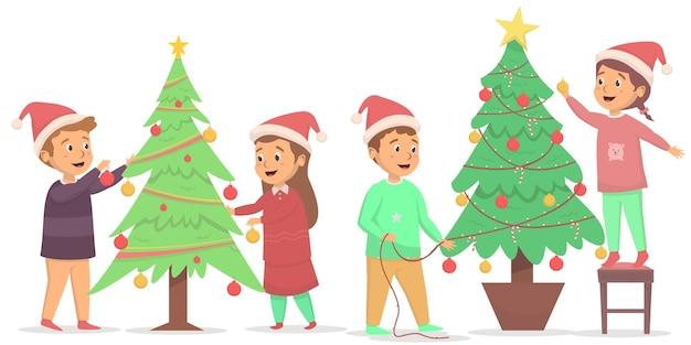 Het aantal kinderen heeft verschillende kerstboom gemaakt
