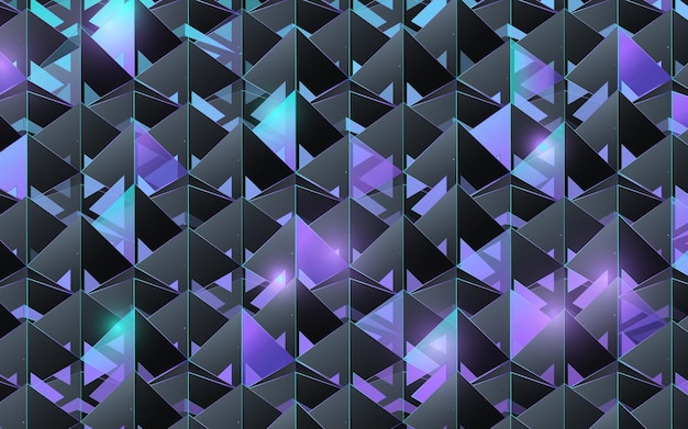 Het abstracte 3d patroon van de piramidestructuur. futuristische en technologie concept achtergrond. vector illustratie