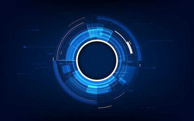 Het abstracte futuristische concept van achtergrondtechnologiesc.i