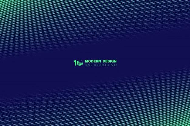 Het abstracte groene halftone ontwerp van het puntpatroon van de achtergrond van het technologiemalplaatje. Premium Vector