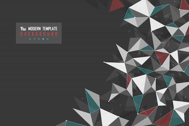 Het abstracte groene rode ontwerp van de driehoekstechnologie van modern technologieontwerp.