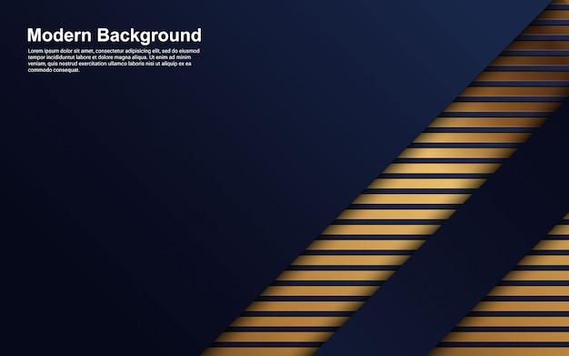 Het abstracte moderne ontwerp van de achtergrond blauwe kleurenluxe