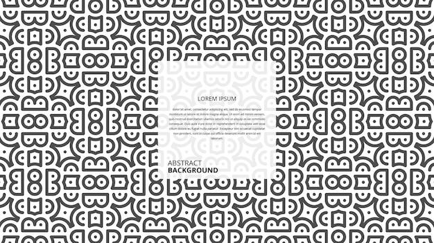 Het abstracte naadloze geometrische patroon van vormlijnen