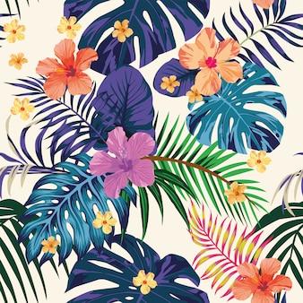 Het abstracte naadloze licht van het kleuren tropische patroon