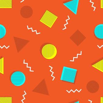 Het abstracte naadloze patroon van memphis