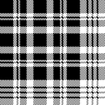 Het abstracte naadloze zwart-witte patroon van het controlepixel