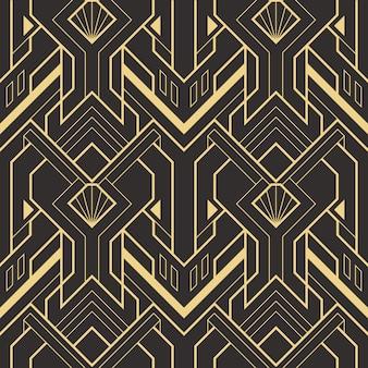 Het abstracte patroon van art deco naadloze moderne tegels