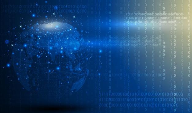 Het abstracte technologie van de gebied digitale circuitkring vernieuwt conceptenachtergrond.