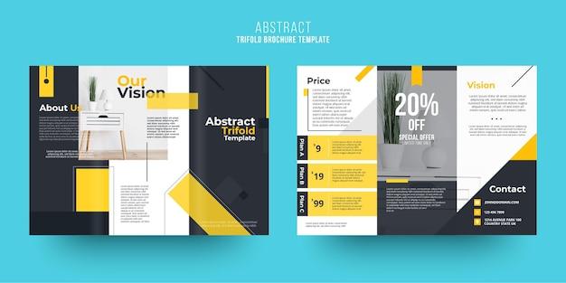 Het abstracte thema van het brochuremalplaatje