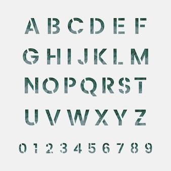Het alfabet en het numerieke systeem vectoren