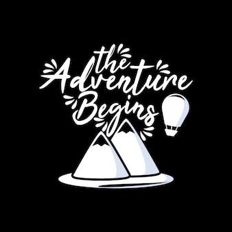 Het avontuur begint