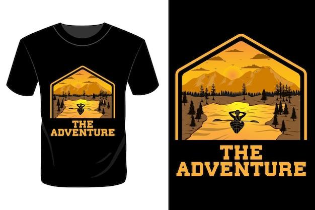 Het avontuurlijke t-shirtontwerp vintage retro