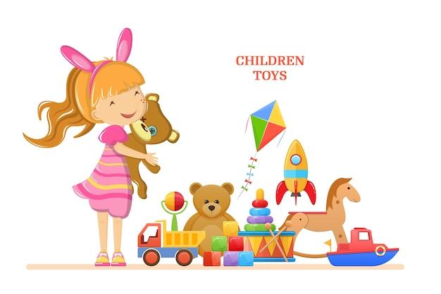 Het babyspeelgoed van kinderen voor meisje.