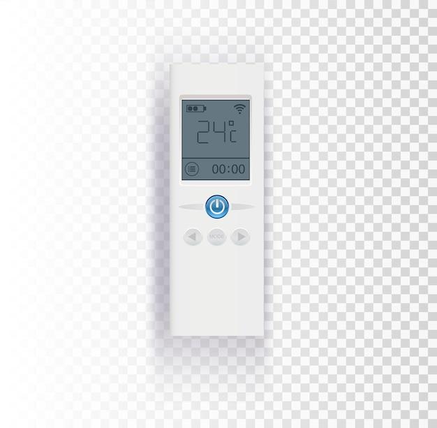 Het bedieningspaneel van de airconditioner op transparante vectorillustratie als achtergrond