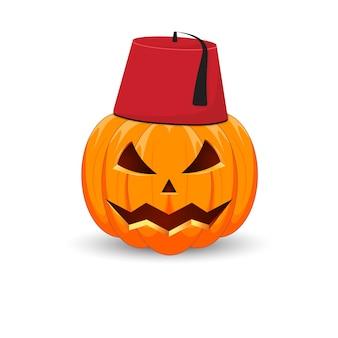 Het belangrijkste symbool van de happy halloween-vakantie. turkse pompoen.