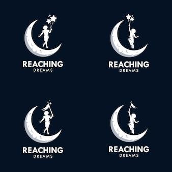 Het bereiken van dromen logo ontwerpsjabloon