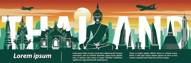 Het beroemde oriëntatiepunt van thailand