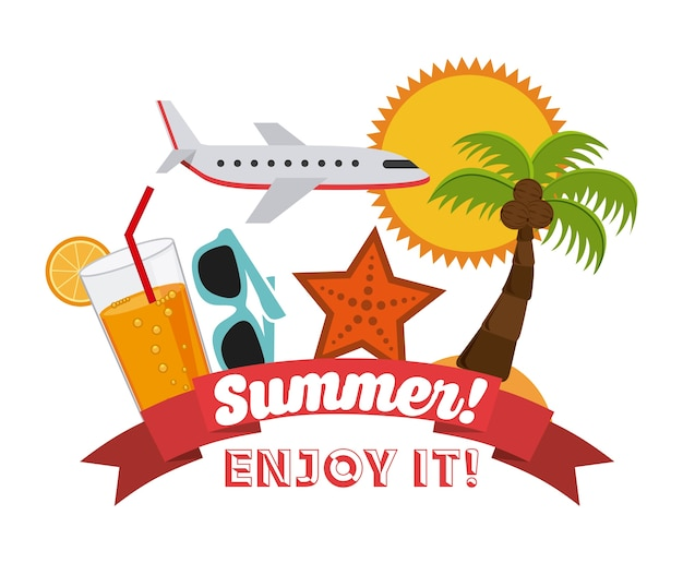 Het beste de zomerontwerp, vector grafische illustratie eps10