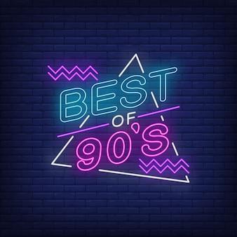 Het beste van de jaren negentig neon belettering