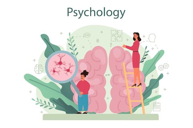 Het bestuderen van de geest en het gedrag van het menselijk concept