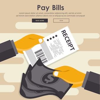 Het betalen van rekeningen concept