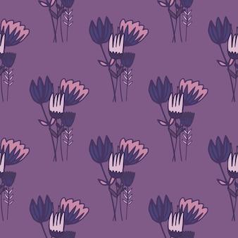 Het bloemenboeket silhouetteert naadloos patroon