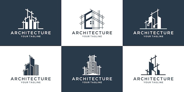 Het bouwen van architectuurlogo-collectie