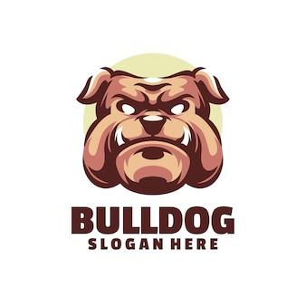Het bulldog-logo is geschikt voor gameteams of gamemascottes
