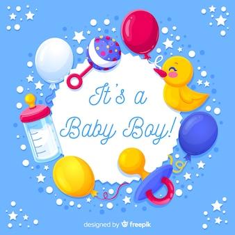 Het concept van de babydouche voor jongen