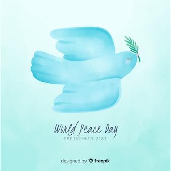 Het concept van de vredesdag met waterverfontwerp