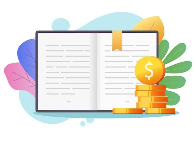 Het concept van het het geldkrediet van het beursonderwijs op kleurrijke achtergrond