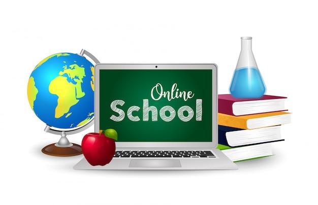 Het concept van het onderwijs. online onderwijs.