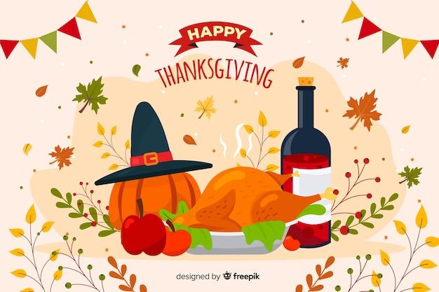 Het concept van het thanksgiving daythema voor achtergrond