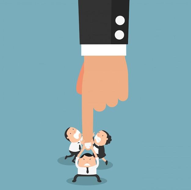 Het concept van medewerkers die zich verzetten tegen de autoriteit