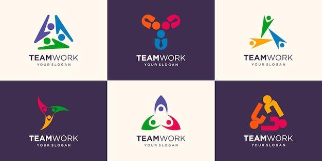 Het concept van mensen full colour vector logo