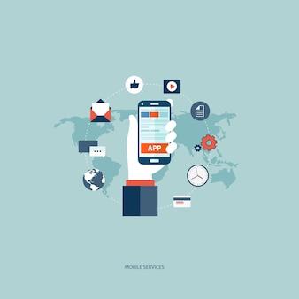 Het concept van mobiele diensten