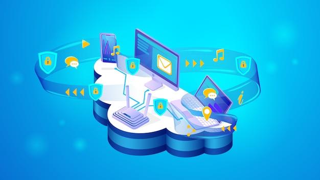 Het concept van online beveiliging van persoonlijke gegevens