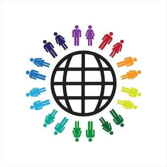Het concept van werelddag met mensen vectorillustratie