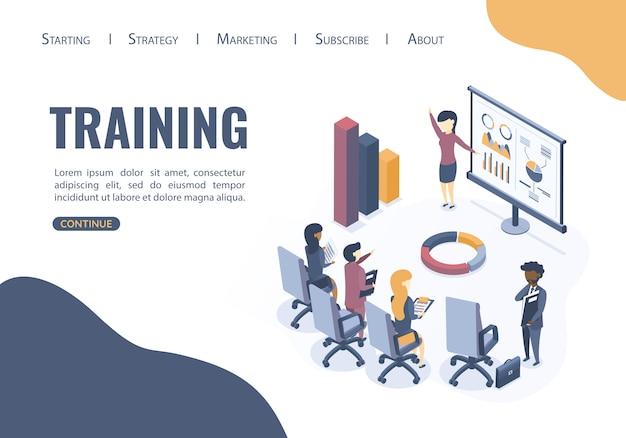 Het concept van zakelijke training.