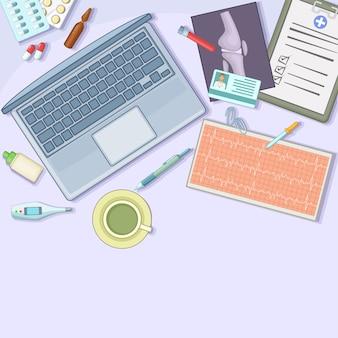 Het conceptenwerkstation van de geneeskunde, beeldverhaalstijl