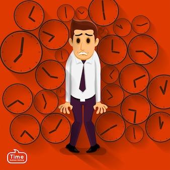 Het concepttijdmanagemnet van illustraties