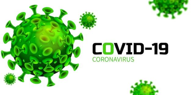 Het covid coronavirus is in de vorm van een echte illustratie om het type coronavirus te beschrijven